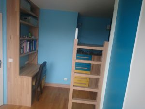 amenagement chambre enfant lit suspendu