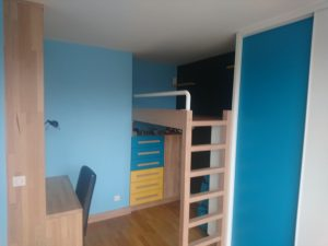 amenagement chambre enfant lit suspendu 2